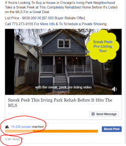 sell house fast Chicago coming soon facebook post