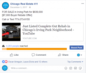 sell house fast Chicago facebook post